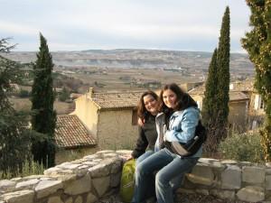 In Vaisons la Romaine, overlooking the Cote de Rhone vineyards.
