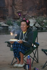 Paula celebrates her 60th on the river.