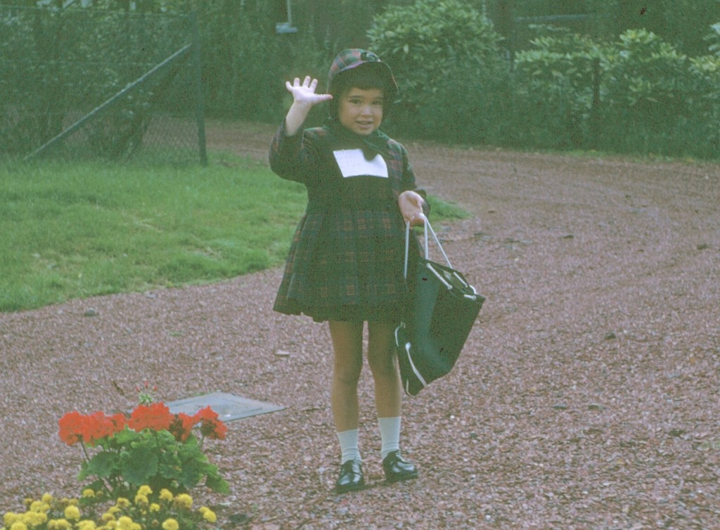 First day of school, 1967 in Brussels, Belgium.